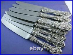 12 Sterling REED & BARTON 9 5/8 Dinner Size Knives FRANCIS I no mono