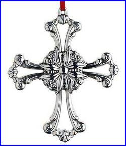 2015 Reed Barton Sterling FOURTH Annual Francis I Pierced Cross Xmas Ornament