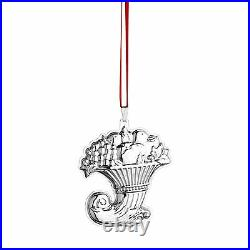 2015 Reed Barton Sterling Francis First Pattern Annual Xmas Ornament Cornucopia