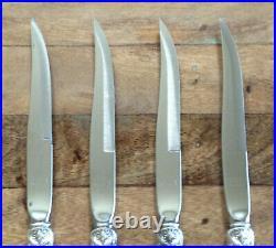 4 Lot Francis I by Reed & Barton Sterling Silver Steak Knife Set 9 EUC