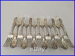 4 Reed & Barton Francis 1 Sterling Silver 7 3/4 Large Dinner Fork NO MONO VTG