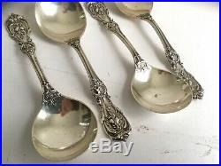 (4) Reed & Barton Francis I Sterling 6 CREAM SOUP SPOONs No Monogram Old Mark