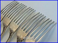 5 Sterling Heavy Dinner Forks, Reed & Barton Francis 1st, Pat. 1907, No Mono