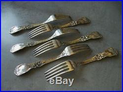 6 Reed & Barton 7 1/4 Francis I Sterling Silver Forks Old Mark No Monogram