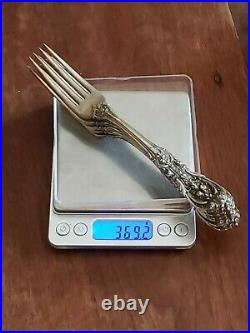 6 Reed & Barton FRANCIS I Sterling Silver 7 1/8 Dinner Forks Old Mark No Mono's