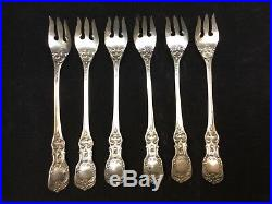 6 pcs Reed & Barton Francis I Sterling Silver Flatware Oyster Forks Eagle-R-Lion