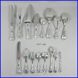 75pc Set Reed & Barton Francis 1st Sterling Silver Flatware Service/10+Serving