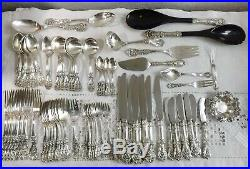 79 Pieces Reed & Barton Sterling Flatware Francis I Beautiful Set