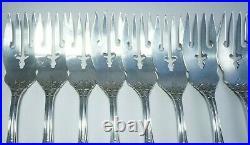 (8) REED & BARTON Sterling Silver'Salad Forks' FRANCIS I Pattern, NO MONO, 263g