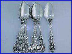 8 Sterling REED & BARTON Teaspoons FRANCIS I 1907 old mark / pat date no mono