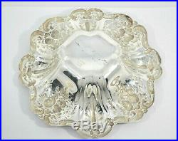 #8811- Reed & Barton Francis I Sterling 8 Bowl X569 Chased Grapes Vines Leave
