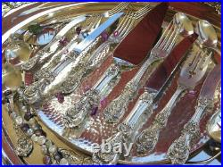 99pc OLD MARKS STERLING SILVER REED BARTON FRANCIS 1 FLATWARE SET SERVERS HEAVY