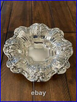 BEAUTIFUL REED & BARTON FRANCIS I 1ST Sterling 8 Bowl Repousse X569 288 GRAMS