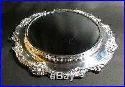 Elegant 14 Reed & Barton King Francis Silver Plate Mirror Plateau #1666 NICE