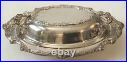 Estate Reed and Barton Silver Plated Serving Bowl with Lid King Francis #1677