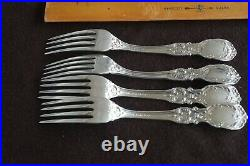Francis 1st Sterling Silver Reed Barton fork 7 1/4 SET of 4 not scrap