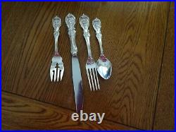 Francis I By Reed and Barton Old Sterling Silver Dinner Setting 4pc Excellent
