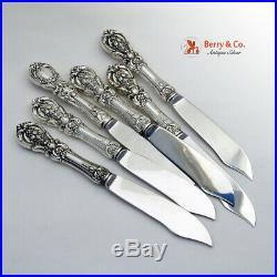 Francis I Fish Knives 6 Hollow Sterling Silver Reed Barton