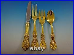 Francis I Gold by Reed and Barton Sterling Silver Flatware Service Set 64 Pcs