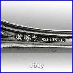 Francis I Oval Soup Spoons Set Reed Barton Sterling Pat 1907 Mono