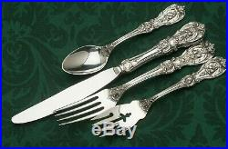 Francis I Sterling by Reed & Barton 4 piece DINNER Size Place Setting, modern