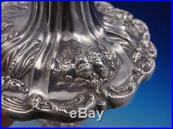 Francis I by Reed & Barton pair of Candlestick #X569 with pierced shades (#4613)