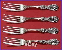 Francis I by Reed and Barton Old Sterling Silver Fish Fork Set 4pc AS Custom 7