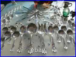 Large Sterling Silver Reed Barton Francis 1 Flatware Set Heavy Rare Old Servers