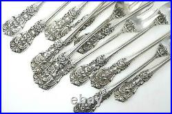 Lot of 12 Francis I Reed & Barton Cocktail Forks Sterling Silver No Mono