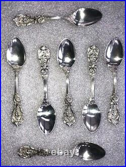 Lot of 7 FRANCIS FIRST Reed & Barton TEASPOONS Sterling Silver Old Mark Spoons