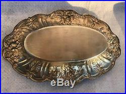 Pair of Reed & Barton Sterling Silver Francis I Bread Trays Marked X568
