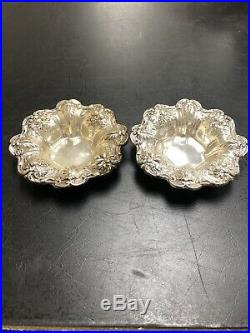 Pr Reed Barton Sterling Silver 925 X569 Francis I Candy Nut Dishes Butter Pats