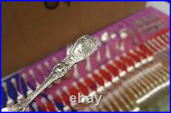 REED&BARTON FRANCIS I STERLING SILVER 100 PC SILVERWARE FLATWARE SET withcase