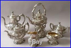 REED & BARTON Francis I TEE-KAFFEE-SET 925er Sterling 6 Teile 7 Kilo Silber
