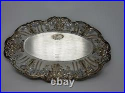 REED & BARTON Francis I X568 Sterling Silver Oval Bread Tray