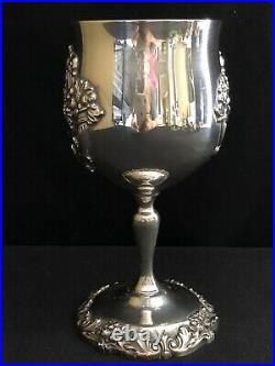 REED & BARTON KING FRANCIS 6-1/2 #1659 SILVERPLATE WATER WINE GOBLET Quantity