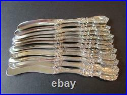 Rare Old Mark Pat-date Reed Barton Francis I Sterling Flatware 12 Butter Knives