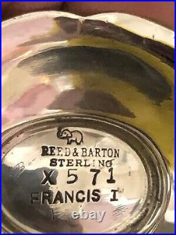 Reed And Barton Francis I Sterling Salt And Pepper Shakers Flawless No Monogram