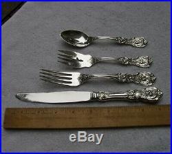 Reed & Barton FRANCIS I (1907) 4 PIECE PLACE SETTING-Regular Size-Modern Blade
