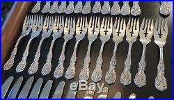 Reed Barton Francis 1 OLD MARK Sterling Silver Flatware Service 12 Total 77 Pcs