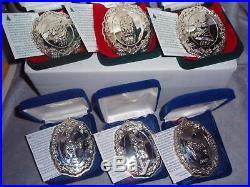 Reed Barton Francis 1st Pattern Sterling Silver Nativity Christmas Ornament Set