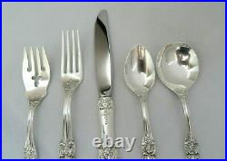 Reed & Barton Francis 1st Sterling Silver 5 Piece Place Size Setting XLNT #9