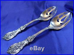 Reed & Barton Francis 1st Sterling Silver Pierced Serving Spoon Old Mark