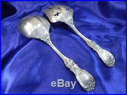 Reed & Barton Francis 1st Sterling Silver Salad Servers Set Very Good Cond. M