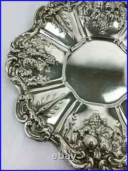 Reed & Barton Francis 1st Sterling Silver X569 Tray Grape Clusters 11.5