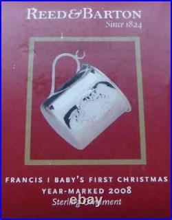 Reed & Barton Francis Babys 1st Christmas 2008 Ornament New X548 Rare Silver