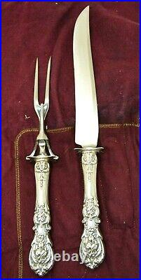 Reed & Barton Francis I 1 Sterling Silver Large Carving Set Fork and Knife