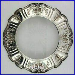 Reed & Barton Francis I Crystal Lemon Dish with Sterling Silver Rim