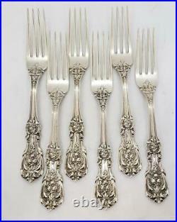 Reed & Barton Francis I First Sterling Silver Dinner Fork Set of 6 Vintage