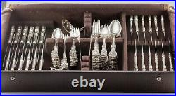 Reed & Barton Francis I Silverware Set Service for 12 with Case 115 Pieces Total